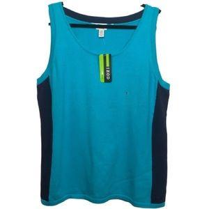IZOD Golf Color Block Knit Pullover Vest